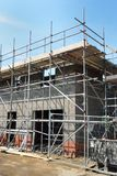 House being built in portrait Royalty Free Stock Images