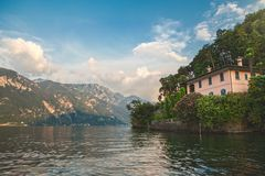 House in Belaggio on Como lake Stock Image