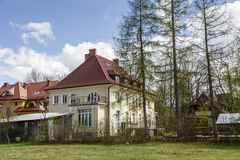 The house Bialy Dom in Zakopane Royalty Free Stock Image