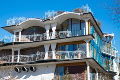 House with big balconies Royalty Free Stock Photography