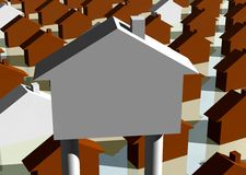 House billboard Stock Images