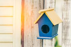 House of bird at garden Royalty Free Stock Image