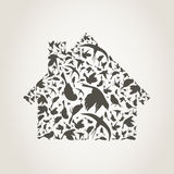 House a bird Royalty Free Stock Photos