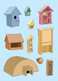House for birds, hedgehog and insect. House in garden Stock Images