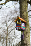 House for birds. On a tree Royalty Free Stock Photo