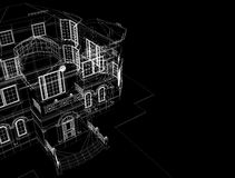 House in black background Royalty Free Stock Image