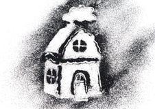 House of black glitter sparkle on white Royalty Free Stock Image