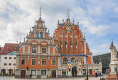House of the Blackheads in the historical center of Riga Stock Photography