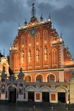 House of the Blackheads in the old town of Riga, Latvia royalty free stock photos
