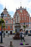 House of the Blackheads in the old town of Riga, Latvia stock photos