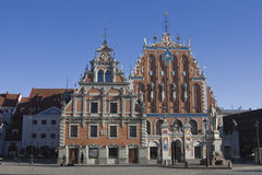 House of the Blackheads in riga. Located in the old town of Riga. Reconstrued in year 1999 Stock Image
