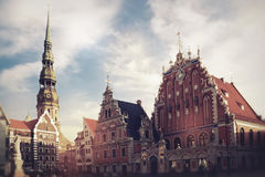 House of the Blackheads in Riga Stock Photos