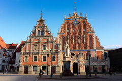 House of the Blackheads. At Riga Royalty Free Stock Photography
