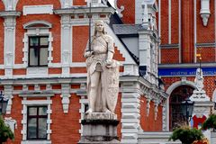 House of the Blackheads in Riga, Latvia royalty free stock images
