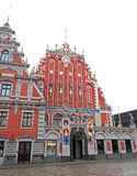The House of the Blackheads in Riga royalty free stock images