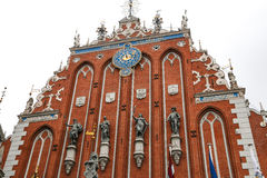 House of the Blackheads and the St. Peter's Church in Riga Latvia Stock Images