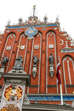 House of the Blackheads and the St. Peter's Church in Riga Latvia Stock Photos