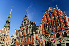 House of the Blackheads and St. Peter's church, Riga, Latvia Stock Photography