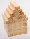 House of Blocks. House Made of Blocks Royalty Free Stock Photography