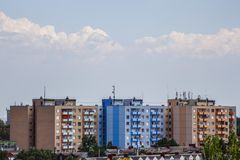 City panel block houses and flats royalty free stock photography