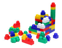 House of blocks - meccano toy Royalty Free Stock Photography