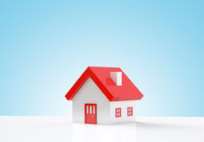 House on blue background Stock Image