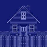 House blue print Royalty Free Stock Photo