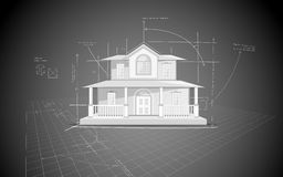 House Blue Print Stock Photos