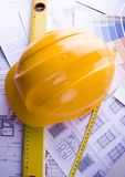 House blue print close up Stock Images