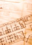 House blue print close up Royalty Free Stock Photography