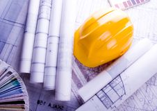 House blue print close up Royalty Free Stock Image