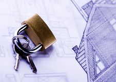 House blue print close up Royalty Free Stock Photo