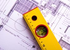 House blue print close up Stock Photography