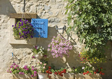 House, blue shutter. Provence. Royalty Free Stock Photography