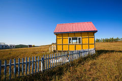 House on with blue sky Royalty Free Stock Images
