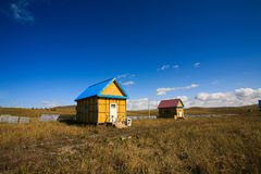 House on with blue sky Royalty Free Stock Photos