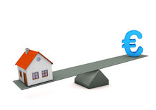 House Euro Balance Royalty Free Stock Photography