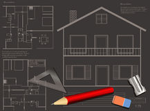 House blueprint background Stock Image