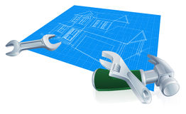 House blueprint construction concept Royalty Free Stock Photography