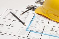House blueprint construction Stock Photos