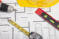 House blueprint construction Stock Photography