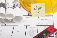 House blueprint construction Stock Images