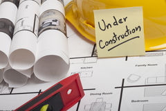 House blueprint construction Royalty Free Stock Image