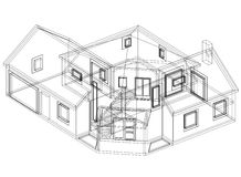 House blueprint 3D perspective Royalty Free Stock Photography