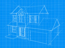 House blueprint. An illustration of a blueprint for an new house under construction Royalty Free Stock Photos
