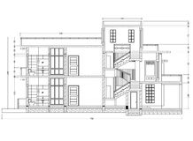 House blueprint  perspective Royalty Free Stock Photography