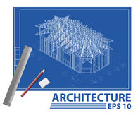 House blueprint. vector illustration Stock Image