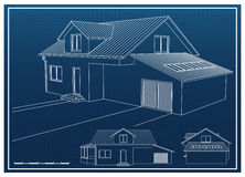 House Blueprint Royalty Free Stock Photos