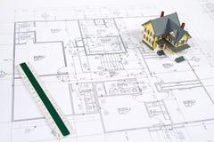 House Blueprints Royalty Free Stock Image
