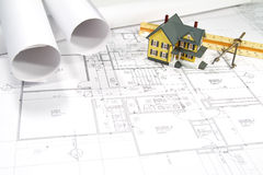 House Blueprints Royalty Free Stock Photo